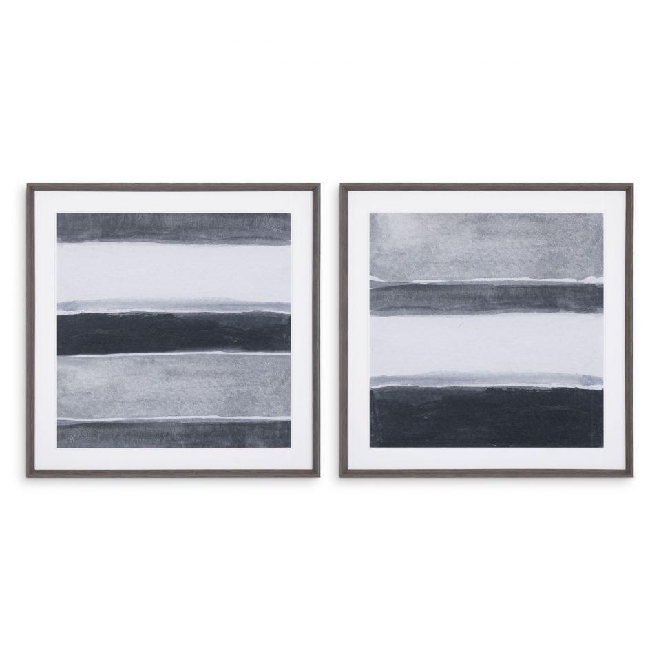 Impresiones artísticas de 2 acuarelas de Valérie Françoise de Eichholtz