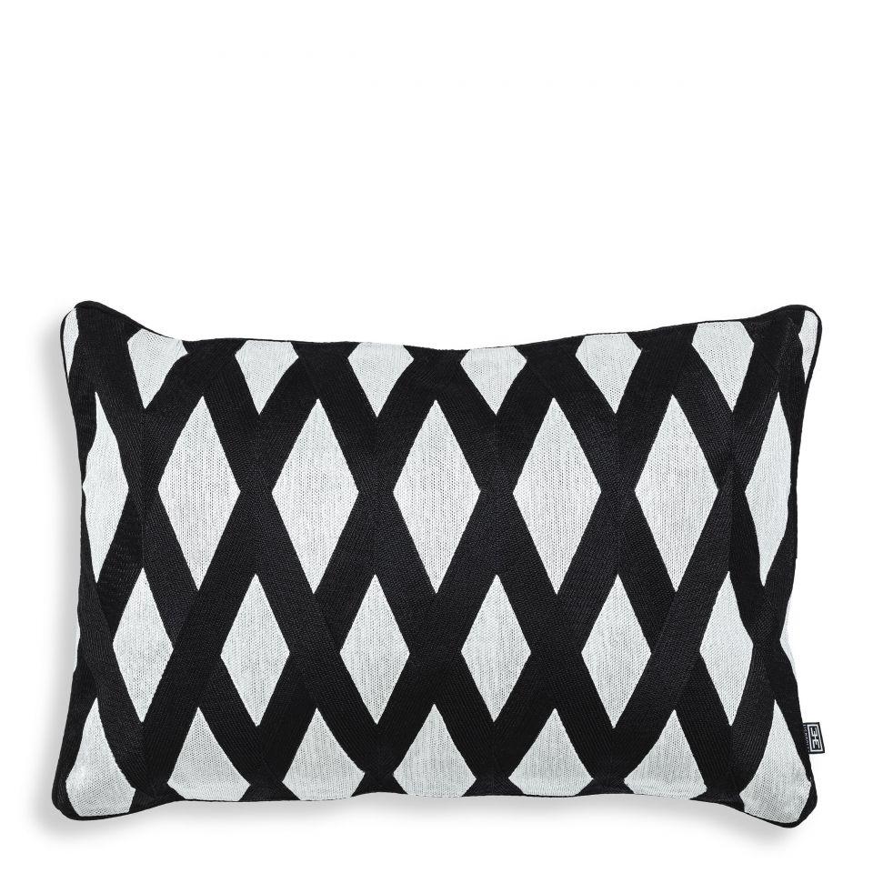 Cojín rectangular Splender color blanco y negro