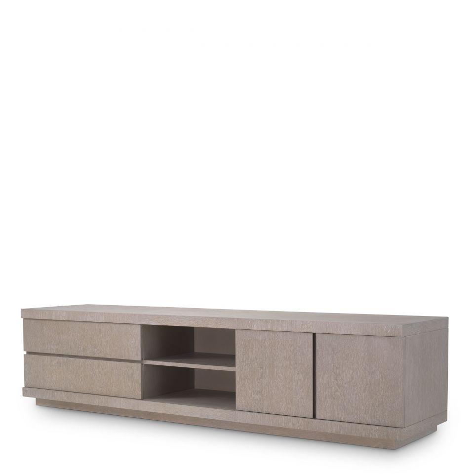 Mueble soporte de TV Crosby de  Eichholtz con chapa de roble cepillado